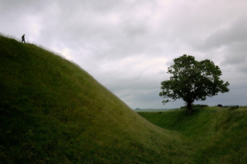 Castle ditch and hill.